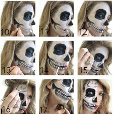 half face halloween makeup step by
