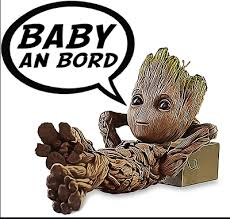 Vinyl Decal Baby On Board Baby Groot
