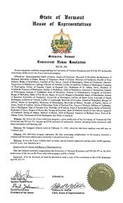 Vermont Legislative Resolution Honors 65 Years Of Across The Fence University Communications The University Of Vermont