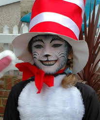 cat in the hat face painting at