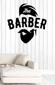 Wall Vinyl Decal Barber Shop Salon Moustache Haircut Beards Decor Unique Gift Z4740 Vinyl Wall Decals Barber Shop Vinyl Wall