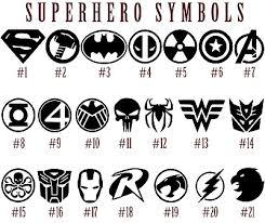 Superhero Symbols Vinyl Decal Sticker Car Window Batman Superman Spiderman Art 2 29 Picclick