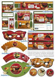Kit Imprimible Gato Con Botas Invitaciones Cards Cajas