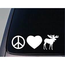 Peace Love Moose Sticker H49 8 Vinyl Decal Maine Yellowstone Walmart Com Walmart Com