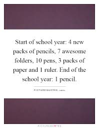 start of school year new packs of pencils awesome folders