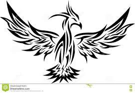 Plemienny Phoenix Tatuaz 2 Ilustracja Wektor Ilustracja Zlozonej
