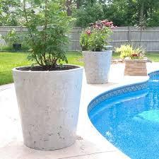 large concrete flower pots solidaria
