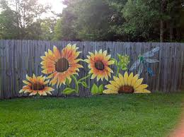 12 Creative Fence Projects For Spring And Summer Garden Fence Art Garden Mural Garden Design Ideas On A Budget