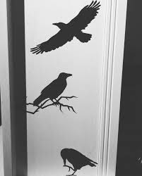 3 Crows Vinyl Wall Decal Etsy