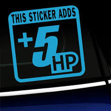 This Sticker Adds 5 Hp Vinyl Decal Choose Color Ice Blue Walmart Com Walmart Com