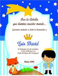 Invitacion El Principito Para Baby Shower Luis David Fiesta Del