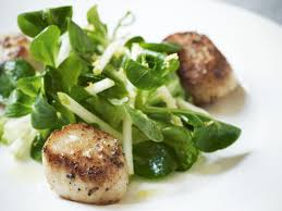 Pan-Fried Scallops with Crunchy Apple ...
