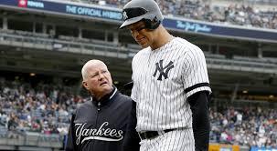 Yankees slugger Aaron Judge injures side during win over Royals ...