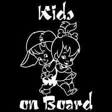 Kids On Board Cartoon Warning Car Sticker Window Decoration Vinyl Decal Buy At A Low Prices On Joom E Commerce Platform