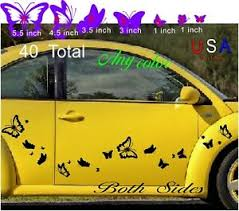 Butterfly 40 Set Outdoor Car Decal Graphic Choose Color Vw Golf Cart Girl Bling Ebay