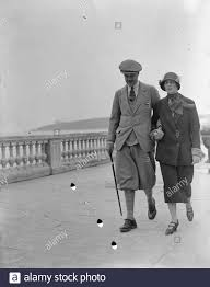 Menton Mr and Mrs Forbes Adam March 1925 Stock Photo - Alamy