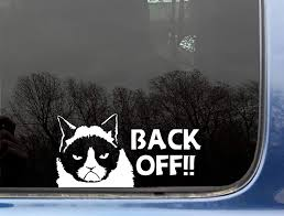 Amazon Com Grumpy Cat Back Off Funny Die Cut Vinyl Window Decal Not Printed Kitchen Dining
