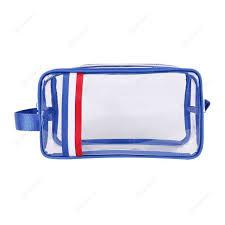 stripe pvc makeup bags waterproof