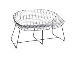 contemporary 2 seater garden bench