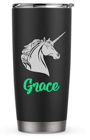 Amazon Com Personalized Unicorn With Flowing Mane Decal Sticker For Laptop School Phone Car Yeti Rtic Tumbler Or Cup Handmade