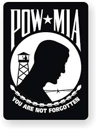 Amazon Com Pow Mia Vinyl Bumper Sticker Decal Window Label Military Prisoner Of War Automotive