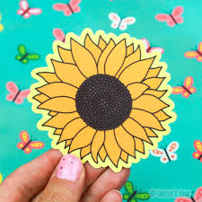 Sunflower Vinyl Sticker Turtle S Soup