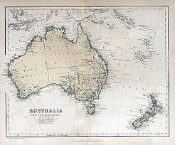 new zealand vintage map print poster