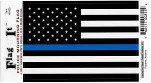 United States Thin Line Flag Car Decal Sticker Pack Of 2 Black White Blue 3 25 X 4 75 Walmart Com Walmart Com