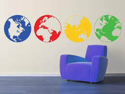 Globes Wall Decal Large Size Removable Multiple Globes Etsy World Map Wall Decal Interior Decor Art Vinyl Wall Decals