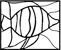 tropical fish stained glass stepping