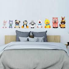 Lovely Cute Farm Animal Pig Duck Cat Sheep Room Decor Wall Decals Stickers For Children Nursery Kids Bedroom Living Room Mural Wall Stickers Aliexpress