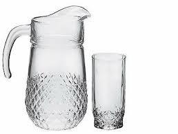 pasabahce valse 7 piece jug and glass