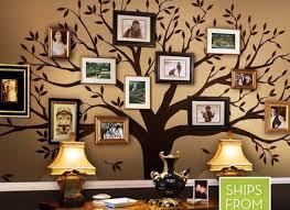 family tree wall art white digital