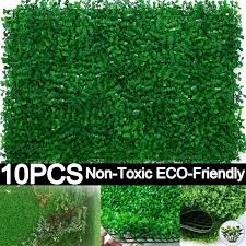 Shoh Artificial Boxwood Hedges Panels 60 40cm Outdoor Grass Greenery Ivy Privacy Fence Screen Faux Plant Wall Backdrop For Home Garden Backyard Wedding Decoration