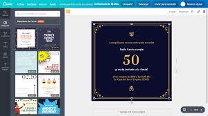 Crea Invitaciones De 50 Anos Online Gratis Canva