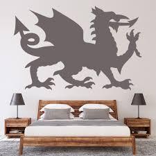 Welsh Dragon Wales Symbol Wall Decal Sticker Ws 19585 Ebay