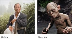 Lookalike? I have just noticed the striking resemblance between Ronald  Dworkin, the eminent philosopher, and Gollum, the creature of the deep.  Might they perhaps be related? - Imgur