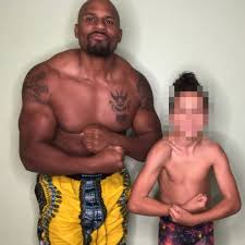Ex-WWE star Shad Gaspard 'threw his son, 10, to life guard to save him  while he was being swept out to sea by rip tide'