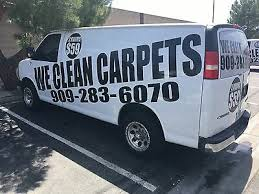 carpet cleaning cargo van with truck