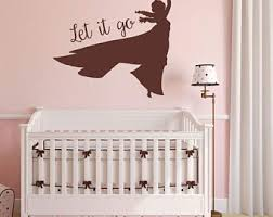 Let It Go Vinyl Decal Elsa Ana Vinyl Saying Bedroom Disney Decal Frozen Let It Go Wall Decal Quote Wall Letter 26 5x11 Frozen Wall Art Home Living Home Decor
