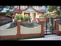 beautiful brick wall fence designs