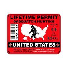 Texas Bigfoot State Flag Yeti Decal Sasquatch Sticker