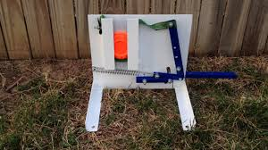 homemade clay pigeon thrower you