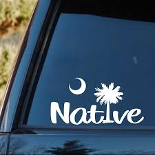 South Carolina Native Palmetto Tree Decal Sticker Van Car Vacation Beach Rear Window Car Sticker Car Stickers Aliexpress