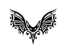 Gothic Tribal Bat W Curvy Detailed Wings Vinyl Decal For Car Home Yeti Laptop Tribal Fashion Vinyl Halloween Pumpkins Carvings
