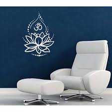 Lotus Flower Om Symbol Wall Decal 20 X 28 White Walmart Com Walmart Com