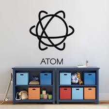 Best Price 21c7a Unique Simple Atom Design Wall Sticker Decal Science Home Kids Room Decoration A00140 Gr Labellavida Se