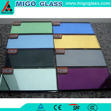 colored bronze tinted mirror glass