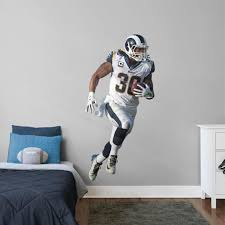 Fathead Todd Gurley Ii Los Angeles Rams White Jersey Life Size Removable Wall Decal