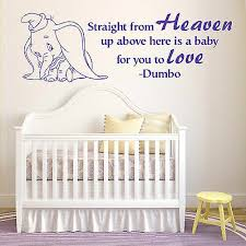 Dumbo The Elephant Straight From Heaven Walt Disney Vinyl Wall Art Sticker Quote Ebay